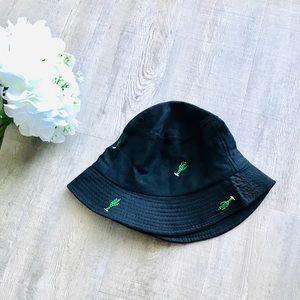 Ardene Embroidered Black Hat